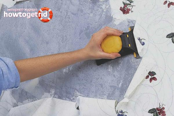 Cum să eliminați tapetul de pe perete