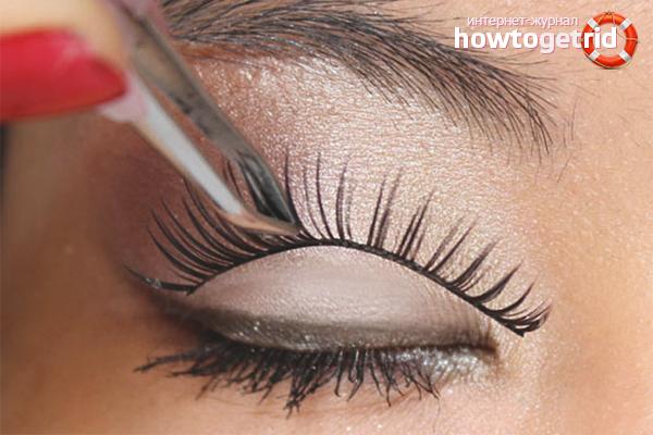 How to glue eyelashes tape type