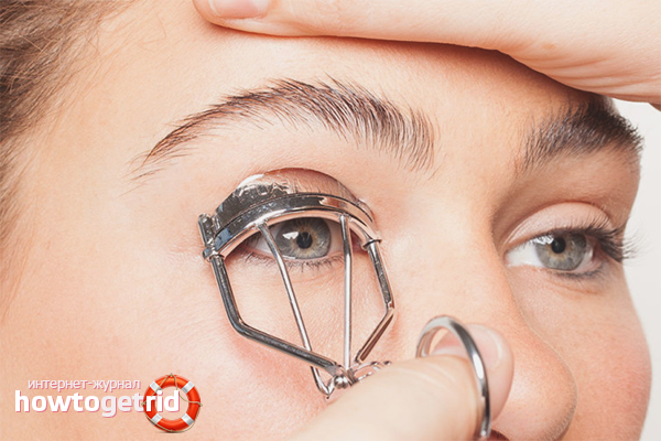 How to curl eyelashes with forceps