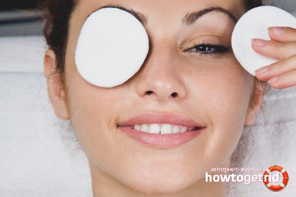 Masks for eyelashes with castor oil