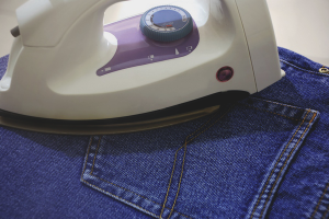 How to iron jeans