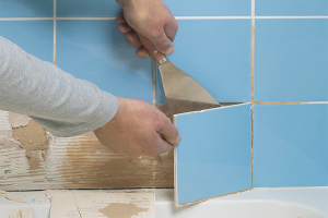 How to remove old tiles from bathroom walls