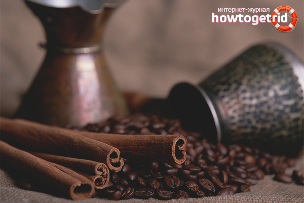 How to make coffee with cinnamon in the Turk