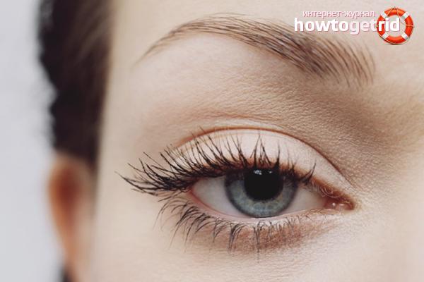 How to visually increase the eyelashes