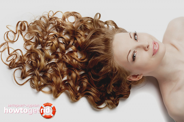 How to curl hair for long