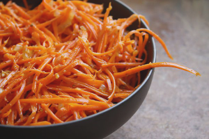How to make carrots in Korean