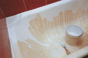 How to restore enamel bath