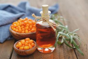 Sea buckthorn hair oil
