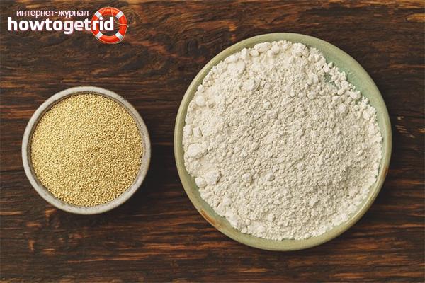 Dommage de la farine d'amarante