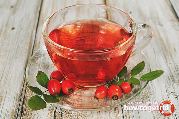 Dried rosehip tea to boost immunity