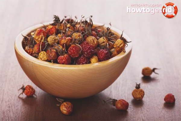 How to brew dried rosehip in a thermos