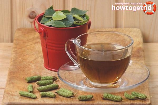 Compoziții terapeutice de frunze de mesteacăn