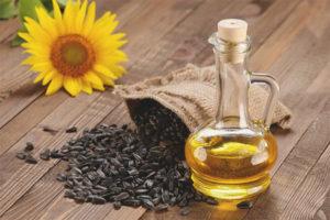 Sunflower oil for the face