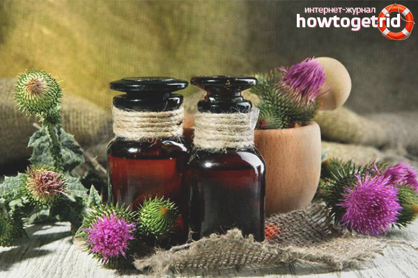 Burdock oil for oily skin