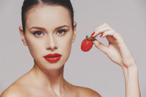 Strawberry for face