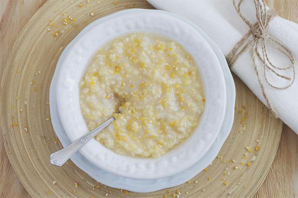 Bouillie de maïs pendant l'allaitement