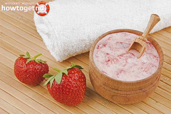 Masks from homemade strawberries for the face