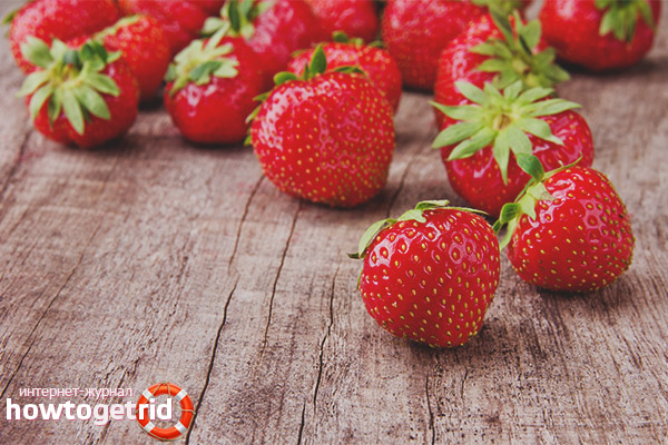 Contraindications strawberries for face