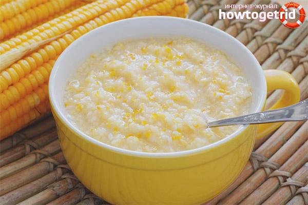 Ris de la bouillie de maïs pendant l'allaitement