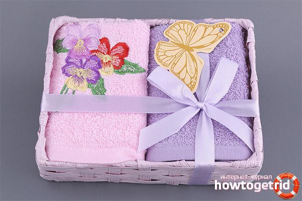 Comment donner une serviette en cadeau