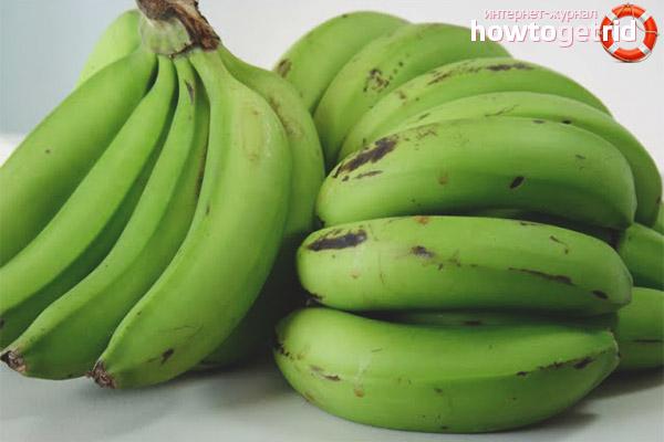 Αποθήκευση πράσινων μπανανών