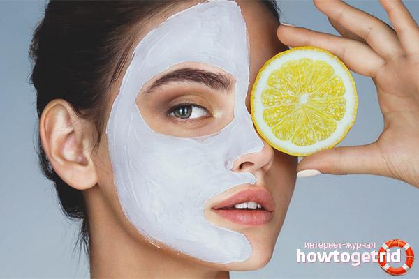 Effective face masks with lemon