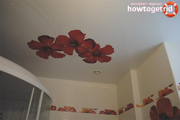 Impression décorative et photo sur les plafonds en tissu