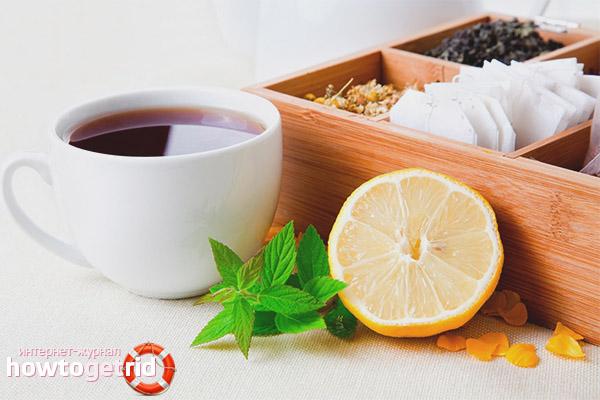 Cum să bei ceai cu lamaie