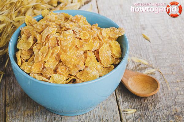 Cornflakes pendant la lactation