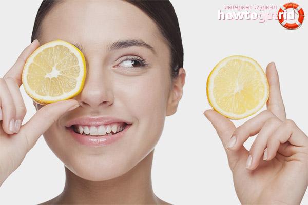 Lemon face peeling