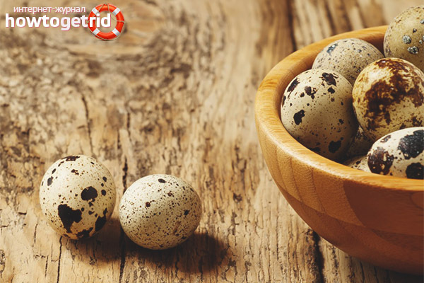 The useful composition of quail eggs