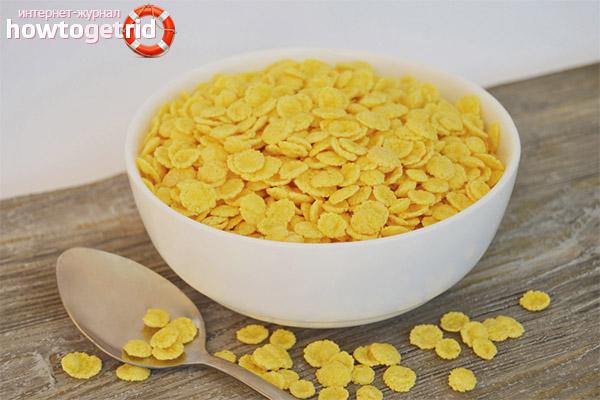 Réception et dosage des cornflakes