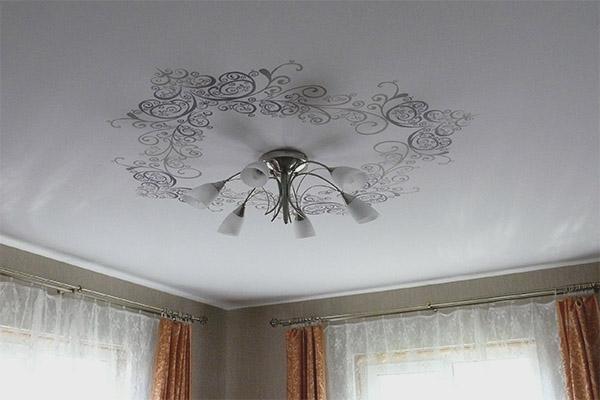 Plafond en tissu extensible