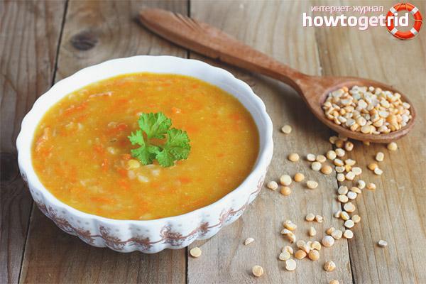 Supă de mazare pentru pierderea în greutate