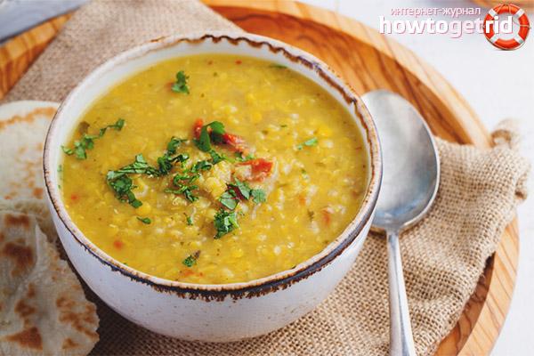 Comment faire cuire une soupe inhabituelle aux petits pois