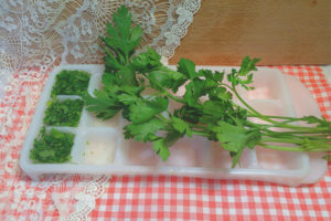 How to freeze parsley for the winter