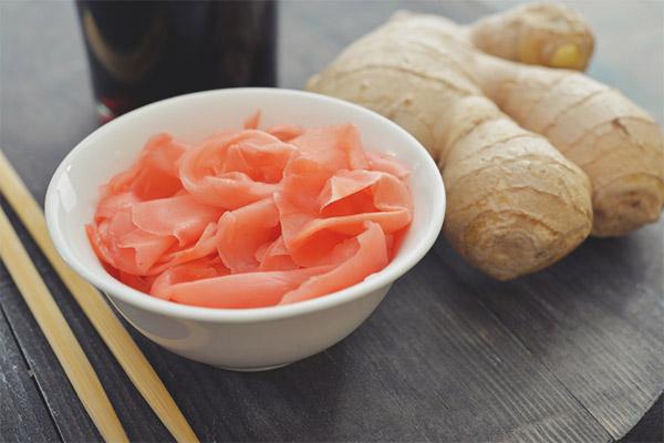Pourquoi mariné au gingembre rose